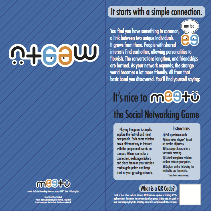 meetü gamecard, outside unfolded