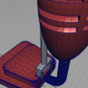 3D Modeling Wireframe on Shaded, Vacuum