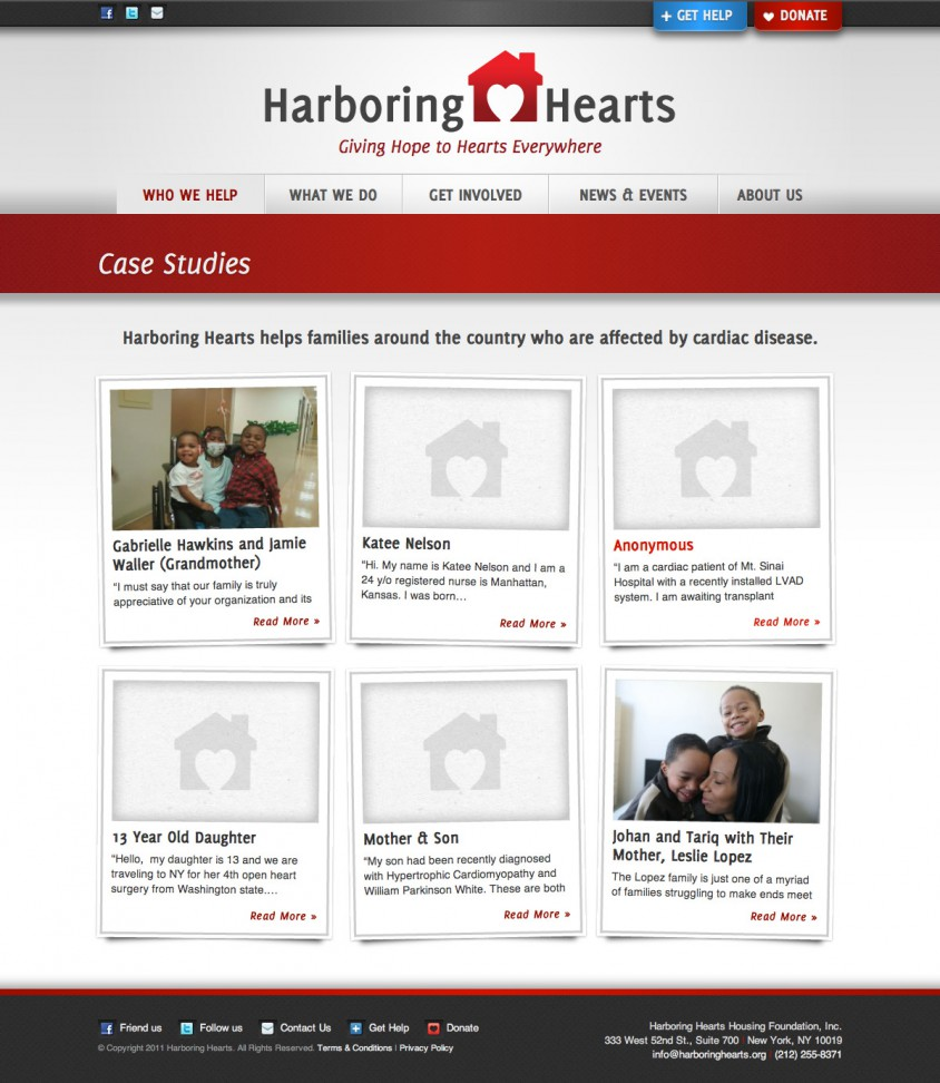 Harboring Hearts Case Studies