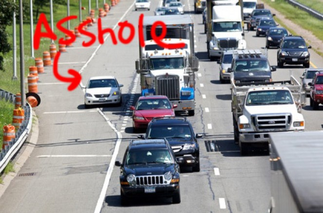 Asshole Merging in Traffic