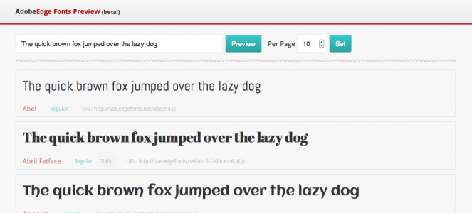 My Edge Fonts Previewer